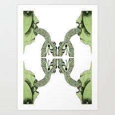 Purging Art Print
