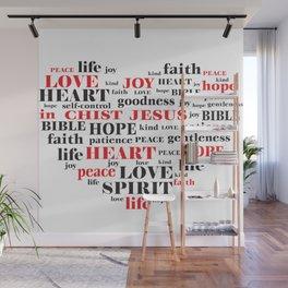 fruit of the spirit,Galatians 5:22-23,Christian Bible Verse Quote Wall Mural