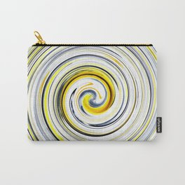 Yellow And Black Funky Swirl Carry-All Pouch
