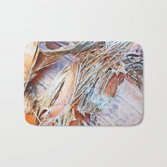 Abstract Driftwood Bath Mat