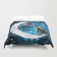 the little prince Duvet Covers featuring The Little Prince by Diogo Verissimo