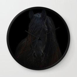 Frisian Stallion Wall Clock