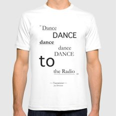 Dance... SMALL White Mens Fitted Tee