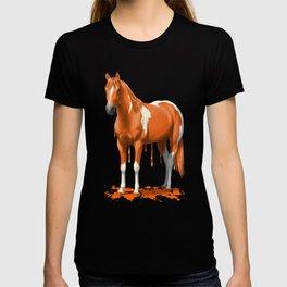 Neon Orange Dripping Wet Paint Horse T-shirt