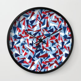 Break the Glass Ceiling! Red White & Blue Wall Clock