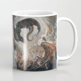 Black Battle Dragon Coffee Mug