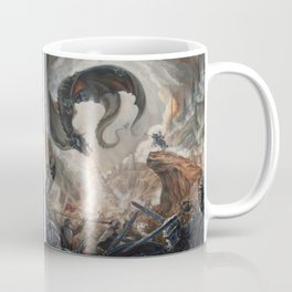 Black Battle Dragon Coffee Mug