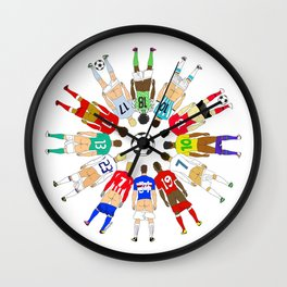 Soccer Butts Wall Clock