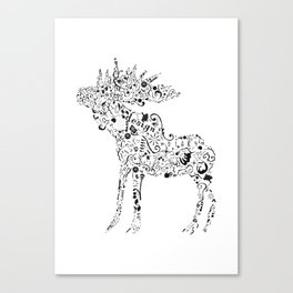 Many shapes of the Moose Canvas Print