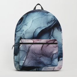 Blush and Darkness Abstract Paintings Backpack