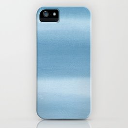 Abstract watercolor. Blue texture watercolor. iPhone Case