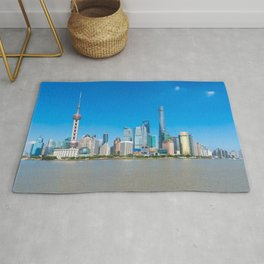 Shanghai Skyline - Summer Rug