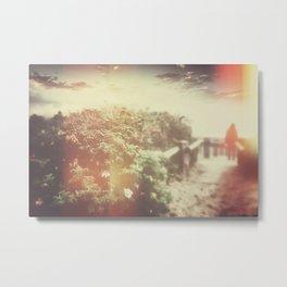 ROSE HIP REVERIE (Retro) Metal Print
