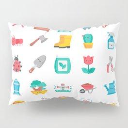 CUTE GARDENING PATTERN Pillow Sham
