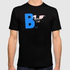b for bat MEDIUM Mens Fitted Tee Black
