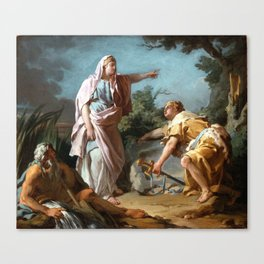 Nicolas-Guy Brenet - Aethra Showing her Son Theseus the Place Where his Father had Hidden his Arms Canvas Print