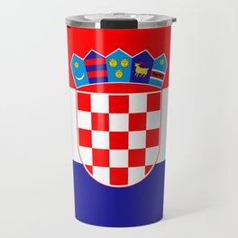 Flag of Croatia Travel Mug