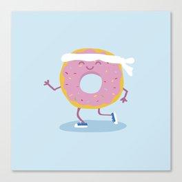 Running donut Canvas Print