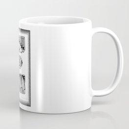 Zentangle E Monogram Alphabet Illustration Coffee Mug