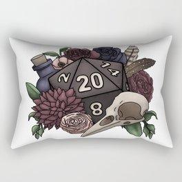 Necromancer D20 Tabletop RPG Gaming Dice Rectangular Pillow
