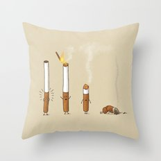 Smoking Kills Throw Pillow