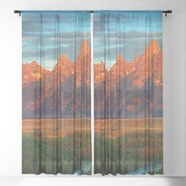 Grand Tetons - Jackson Hole, Wyoming in Autumn Sheer Curtain