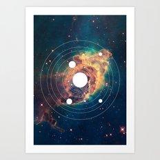 Solar System Near Nebula Art Print