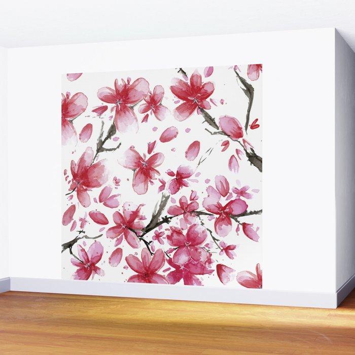 Cherry Blossoms #society6 #buyart Wall Mural