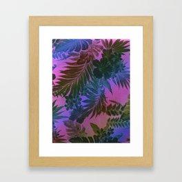 Happy Aloha Purple Framed Art Print