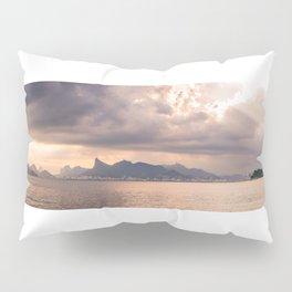 Heavens Burst over Christ the Redeemer Pillow Sham