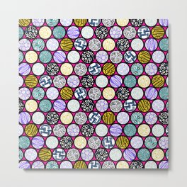 Filled Circles Metal Print