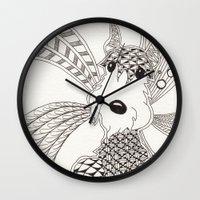 schnauzer Wall Clocks featuring Schnauzer by Noreen Loke
