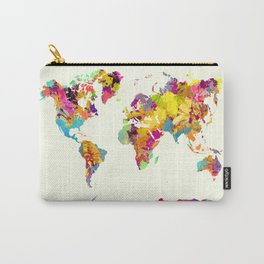 world map color art Carry-All Pouch
