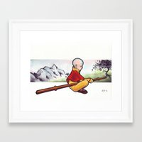the last airbender Framed Art Prints featuring The Last Airbender by Warbunny