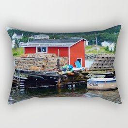 Fisherman's Shack Rectangular Pillow