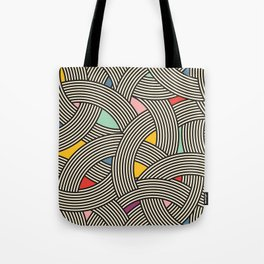 Modern Scandinavian Multi Colour Color Curve Graphic Tote Bag