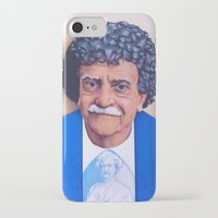 vonnegut iPhone & iPod Cases featuring Kurt Vonnegut by Tim Frame