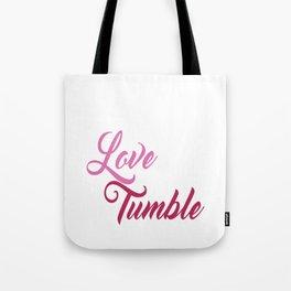 Live Love Tumble Gymnastics T-shirt Tote Bag