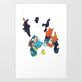 paint shirt Art Print