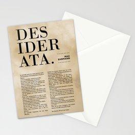 Desiderata by Max Ehrmann - Typography Print 14 Stationery Cards