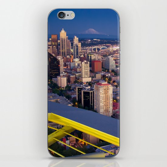 Seattle in the Evening, from the Space Needle iPhone & iPod Skin