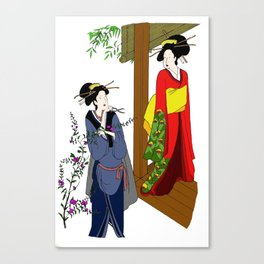 Lady and Servent Canvas Print