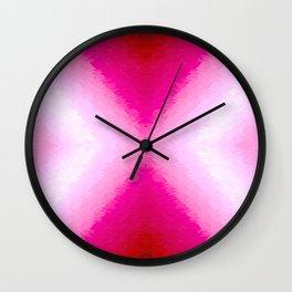 Magenta Texture Ombre Wall Clock