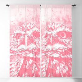 owl portrait 5 wspw Blackout Curtain