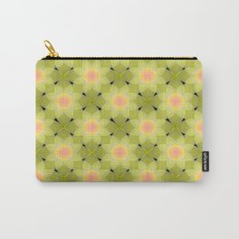 Green and yellow floral pattern. Carry-All Pouch