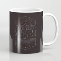 u2 Mugs featuring The Navigator by Rick Crane