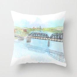 Hot Metal Bridge Throw Pillow