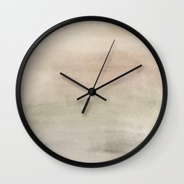 Ombre Grey Mist Watercolor Hand-Painted Effect Wall Clock
