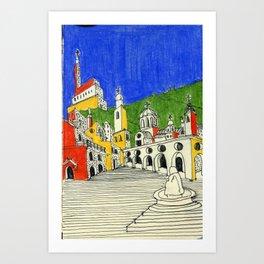 architectural fantasy_31 Art Print