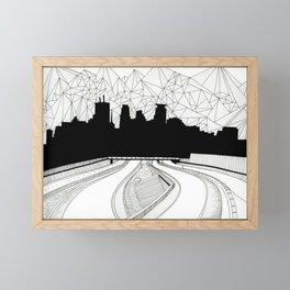 Dreaming the downtown Framed Mini Art Print